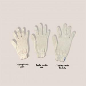 Le tre taglie dei guanti